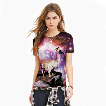 3D Sheep King Digital Printed Women T-Shirt Sports Cotton T-shirt Price Philippines