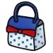 3D Style Bowknot Decor Comic Cartoon Bag Blue