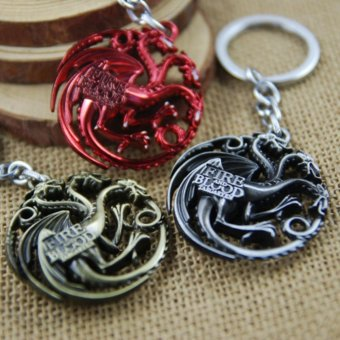 3pcs Movie Series Key Chain Game of Thrones Family Badge Keyring Keychain for Keys Chaveiro Llavero Key Ring Key Holder - intl