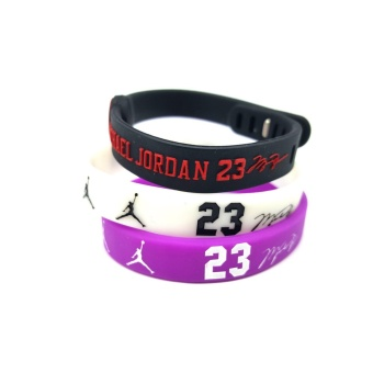 3pcs SportsBraceletsPro Adjustable Team Bracelets Kid to Adult Size Michael Jordan - intl