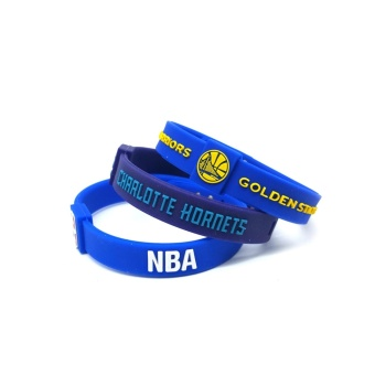 3pcs SportsBraceletsPro Adjustable Team Bracelets Kid to Adult SizeCharlotte Hornets Golden State Warriors - intl