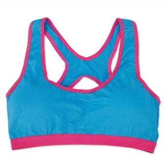 3Pcs Women's Built-up Sports Bra,One Size For All,Strong ElasticityBra For Running,Yoga,Box,BadmintonTraining,Fitness(Blue/White/Black) - intl - 2