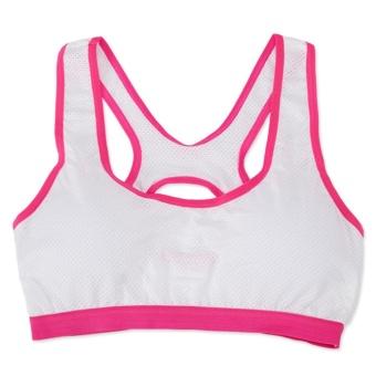 3Pcs Women's Built-up Sports Bra,One Size For All,Strong ElasticityBra For Running,Yoga,Box,BadmintonTraining,Fitness(Blue/White/Black) - intl - 4