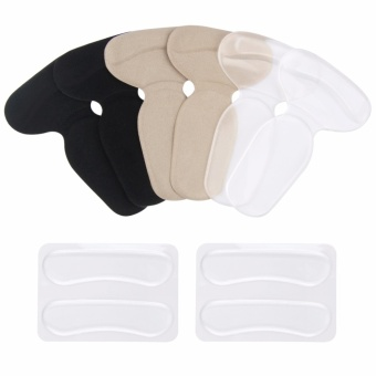 5 Pairs Gel Heel Grips Cushion Liners Shoes Insole Pads, Heel Cups,Foot Pad Care High Heels Inserts for Women & Men - intl