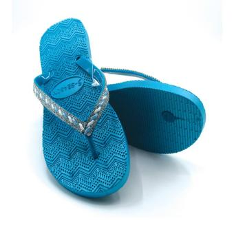 5-Season Flip Flop Footwear Slippers for Women 2736 (Blue)