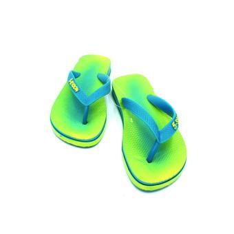 5-Season Kids Flip Flops Thick Sole Rubber Slippers 2708 (Green) - 5