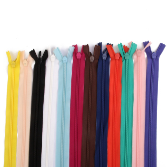 50 Assorted Colors Nylon ZIPS INVISIBLE 7""