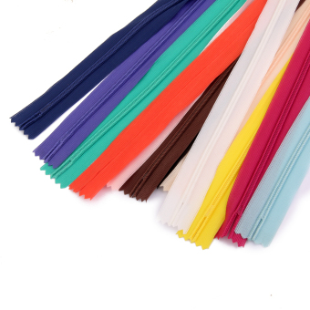 "50 Assorted Colors Nylon ZIPS INVISIBLE 7"" - picture 2"