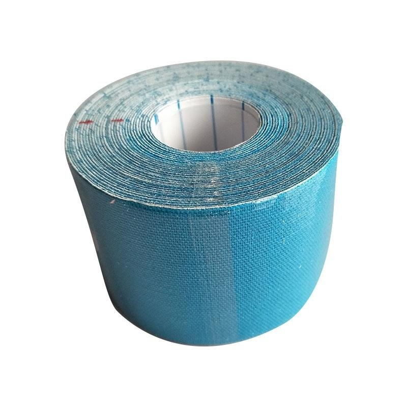 5cm*5m Exercise Bandage Cotton Waterproof Breathable Kinesio Tapes(Light Blue .