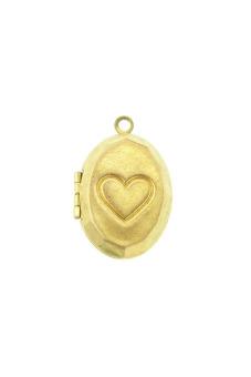 5pcs Brass Oval Pendants Photo Locket Jewelry Findings