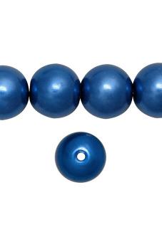 85pcs Round Glass Pearl Spacer Beads 10x10x10mm Dark Blue