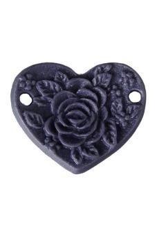 8pcs New Heart Peony Resin Flower Cabochons 15x13x1.5mm Violet
