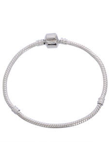 8Years B07981 Bracelets without Charms Set of 4 (Pale Silver)