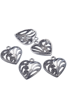 8YEARS B08736 Metal Pendants Set of 30 (Silver)