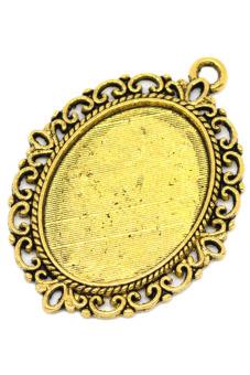 8YEARS B09375 Pendant Settings Set of 10 (Gold)