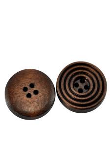 8YEARS B21314 Wood Buttons Set Of 50 (Dark Coffee)