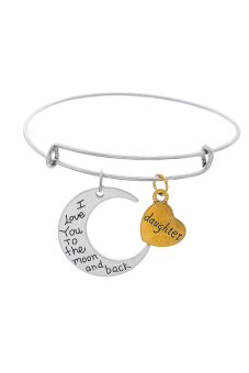8YEARS Bangle Bracelet (Pale Silver/Gold)