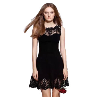 A375 Embroidery Lace Elegant Dress