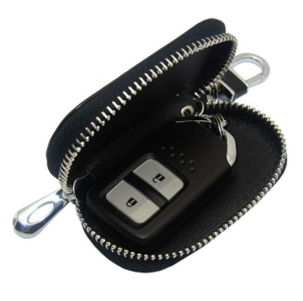 Accessories Leather Key Wallet Car Key Case Leather Key Holder Keychain For Ford C-MX Mustang V6 GT E-150 E-250 E-350 Escort KA - intl - 2