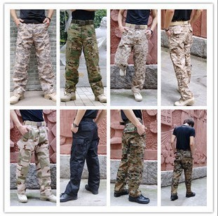 ACU casual tactical version of camouflage for training pants (ACU camouflage (grid cloth))