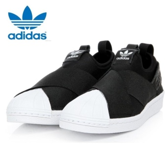 Adidas Originals Superstar Slip-on Shoes S81337 Black/White Express - intl - 2