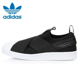 Adidas Originals Superstar Slip-on Shoes S81337 Black/White Express - intl - 4