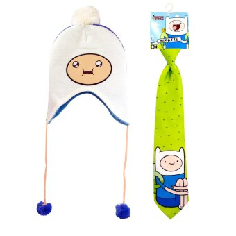 Adventure Time Kid's Necktie 14in with Beanie 52cm