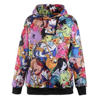 Adventure Time Printed Hooded Sweatshirt Women moletom Sport Suit Hoodie - Intl