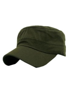 Ai Home Unisex Classic Army Vintage Hat Cadet Military Patrol PlainCap Hats (Army Green) - Intl