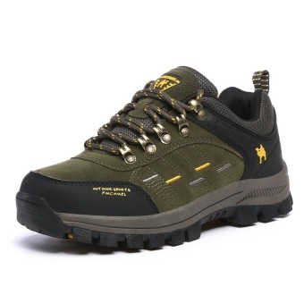 AIWOQI Men's Low Waterproof Non-slip Hiking Shoe Outdoor Climbing Shoes S635R - intl