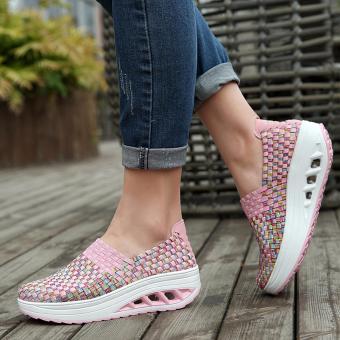 AIWOQI Unisex Ultra Lightweight Multicolor Woven Sneaker Slip-onShoe - intl - 2