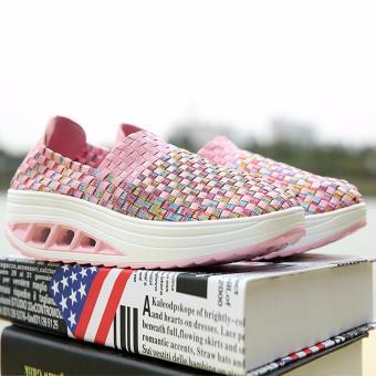 AIWOQI Unisex Ultra Lightweight Multicolor Woven Sneaker Slip-onShoe - intl - 5