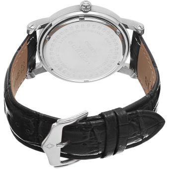 Akribos XXIV Men's Black Leather Strap Watch AK632SSB - 2