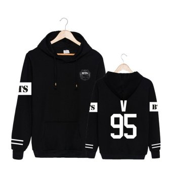 ALIPOP Kpop Korean BTS Bangtan Boys 2 Cool 4 Skool Album No MoreDream Cotton Hoodies Hat Pullovers Sweatshirt PT480(V Black) - intl