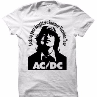 All About Rock ACDC Lock up Band T-Shirt (White) Price Philippines