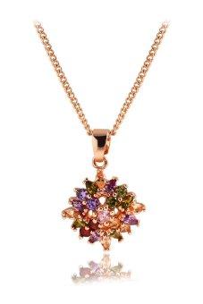 Alloy Crystal Pendant Necklace (Multicolor)