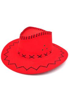 Amango Unisex Hat Cowboy Knight Western Visor Red