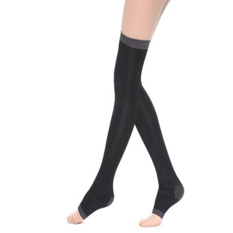 Amart 1 Pairs of Venous Compression Stockings Burn Fat Sleeping Knee Stockings Black - intl