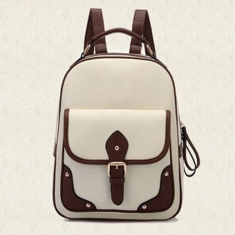 Amart Patchwork Women Backpacks Mochila Women's PU Leather TravelBag School Backpack