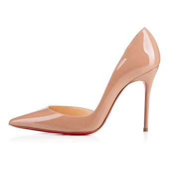 Amourplato Womens Fashion High Heel Pumps Patent Leather PointedToe Nude Shoes - Intl