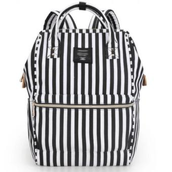 Anello 2-Way Bag Rucksack Backpack Stripes - (Black Stripes)
