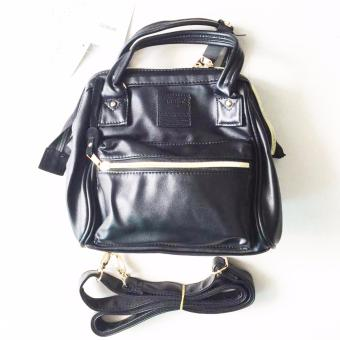 Anello 3 Way Super Mini Boston Sling Backpack Hand Bag in Black
