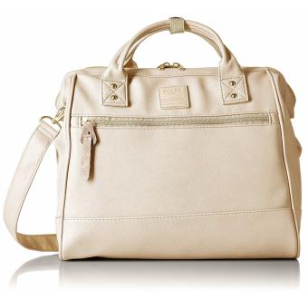 Anello PU leather 2-Way Large Boston Bag - White