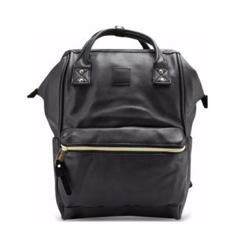 Anello PU Leather Backpack Large ( Black )