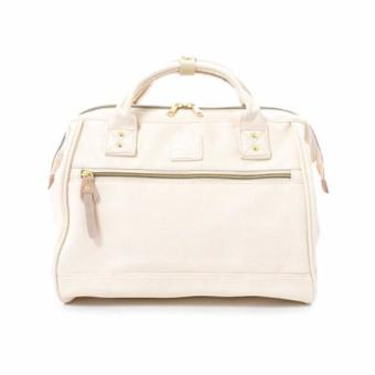 Anello PU Leather Large Boston Shoulder Bag (Ivory)