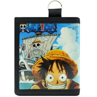 Anime Straw Hat Luffy One Piece Trendy Glossy Printed Wallet - 2
