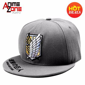 ANIME ZONE Attack On Titan Anime Survey Corps Unisex Fashionable Snapback Cosplay Cap (Grey)