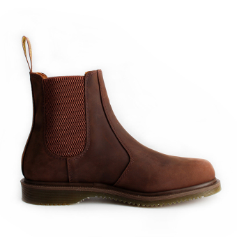 Anmafashion2976 retro Crazy Horse leather sleeves Dr. Martens boots (Men's + 2976 brown Crazy Horse leather thin bottom)