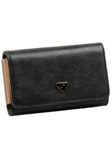 Ansee Envelope Card Leather Purse Case Black