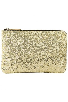 Ansee Sparkle Spangle Clutch Evening Bag (Gold)